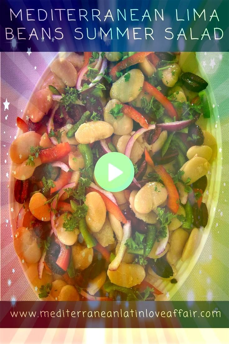 Lima Beans Summer Salad  My Food Blog Recipes Mediterranean Lima Beans Summer Salad  My Food Blog Recipes  Jalapeño Lime Chicken Soup Simple and healthy with white...