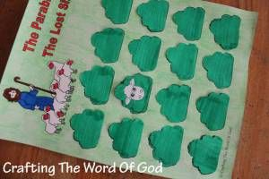Your kids will not only have fun looking for the lost sheep. but they will be reinforcing the lesson of this parable. Instructions Print the template. (Template) Color the first and second page. Cu…