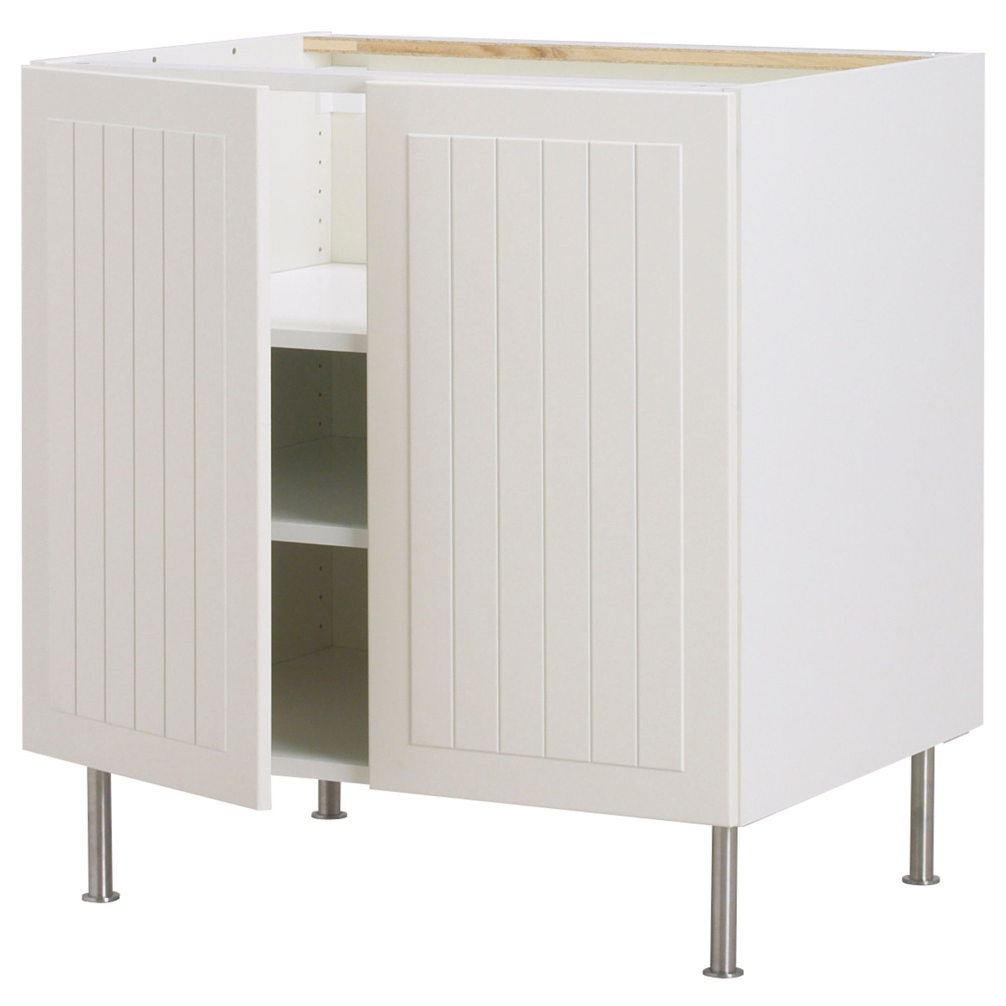 AKURUM Base cabinet w shelf/2 doors - white, Ståt white, 24 ...