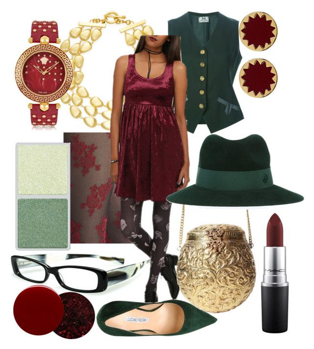 """""""Autumnal Burgundy"""" by starletinwaiting ❤ liked on Polyvore featuring eyebobs, Nordstrom, Rivka Friedman, CÉLINE, Luciano Padovan, Urbiana, Deborah Lippmann, House of Harlow 1960, Maison Michel and MAC Cosmetics"""