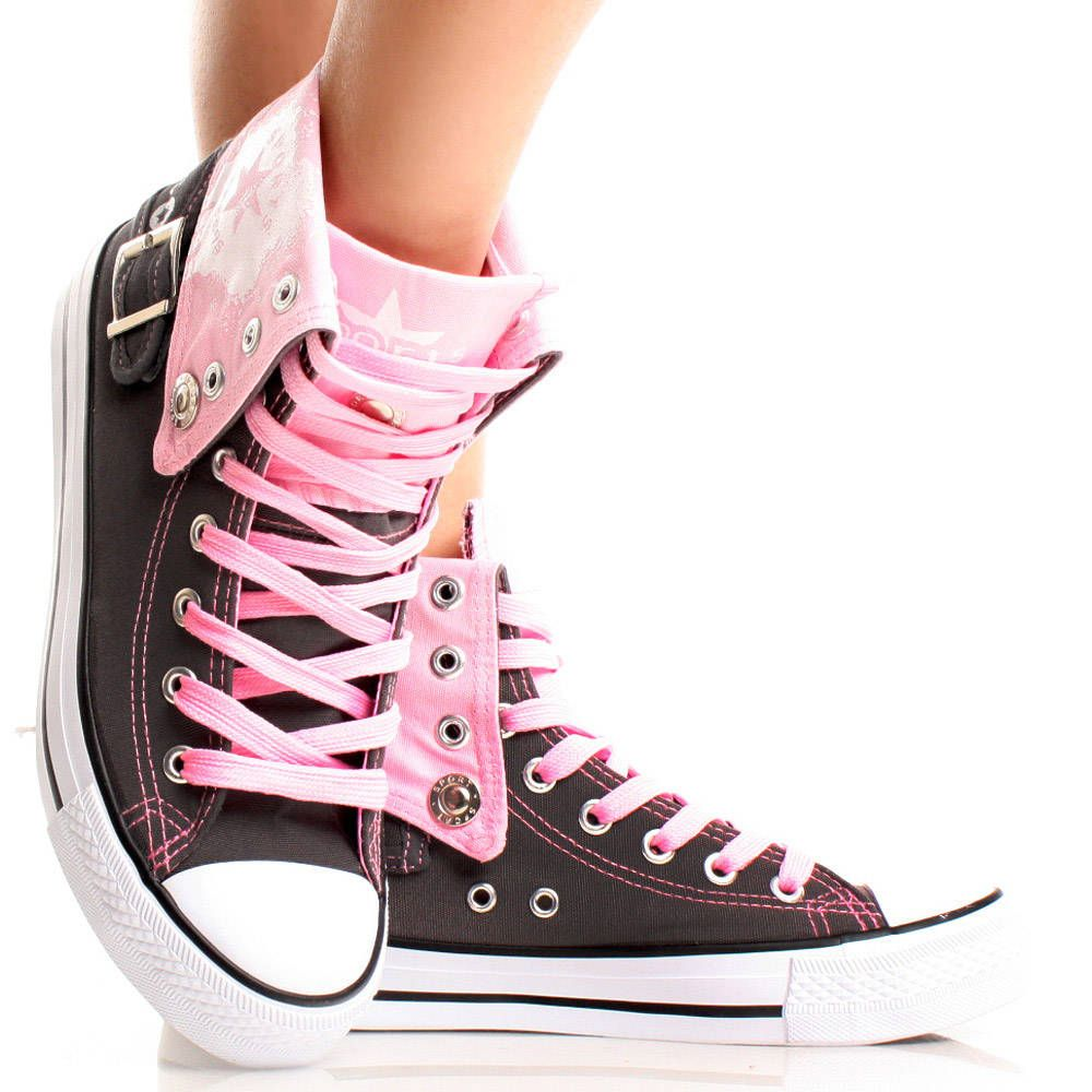 Gray-Canvas Lace Up Casual Hi Top Comfort Women Ankle Boot Sneakers