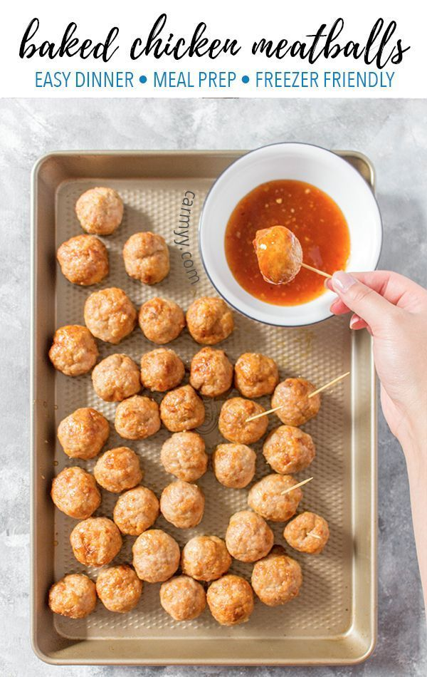 These Easy Baked Chicken Meatballs tender, juicy, and are so versatile! Great fo... -  Nice Blog -
