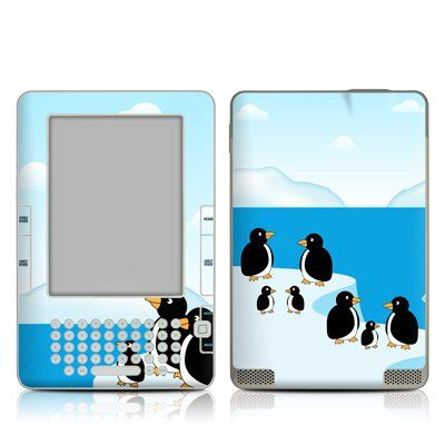 Amazon.com: Penguins Design Protective Decal Skin Sticker for Amazon Kindle 2 E-Book Reader (2nd Gen): Kindle Store