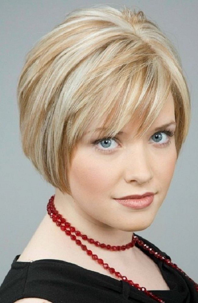Layered Short Haircuts With Side Swept Bangs