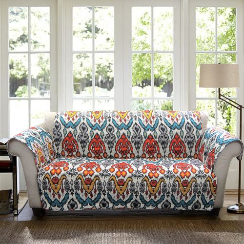 Special Edition By Lush Decor Jaipur Ikat Sofa Protector Sofa Protector Slipcovered Sofa Sofa Furniture