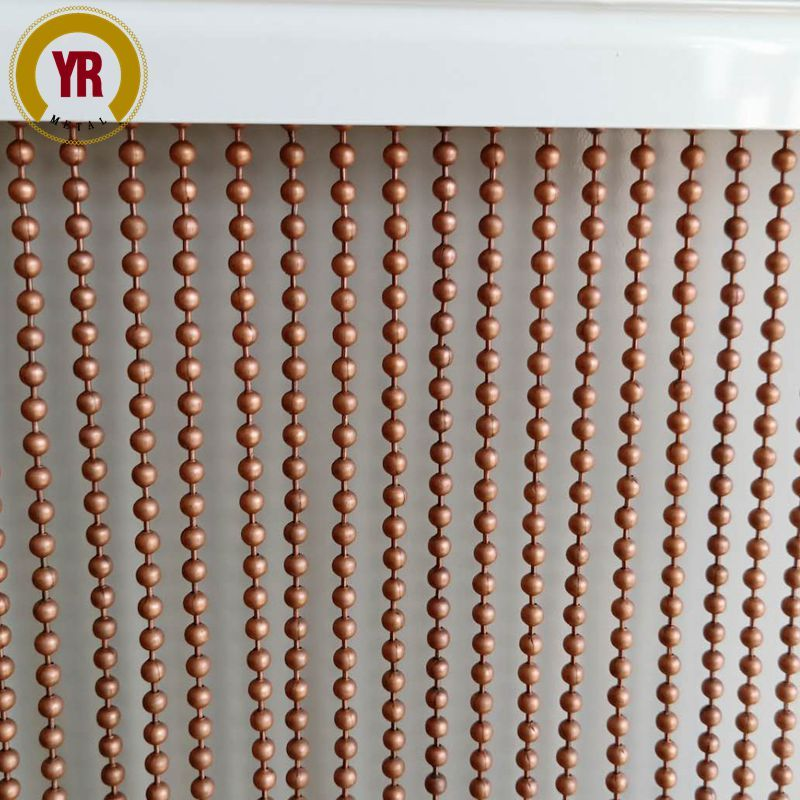 Antique Copper Metal Beaded Curtain 5mm Beaded Curtains Metal
