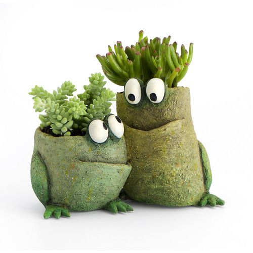 Frog pals planter, blob house