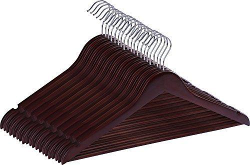 Premium Wooden Hangers - (Pack of 20) - Suit Hangers - Wa...