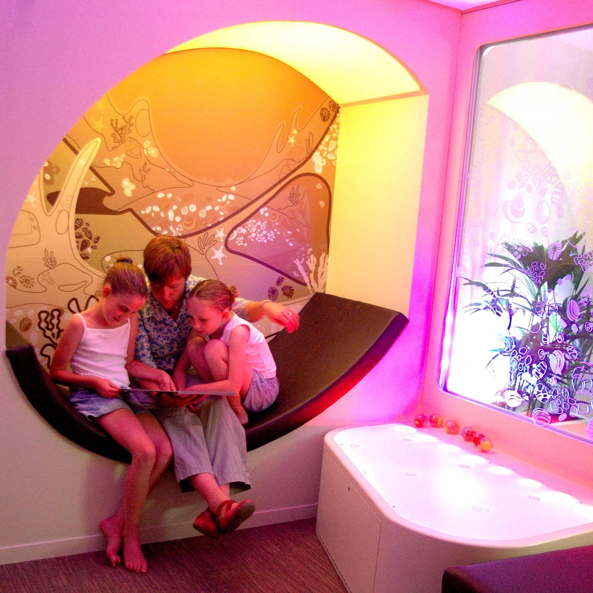 Colourful Nhs Family Room Family Room Hospital Design Healthcare Design