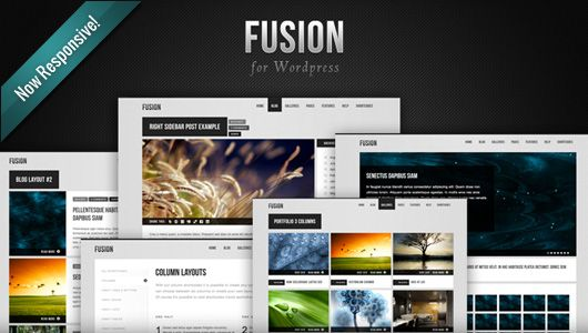 Fusion by Mysitemyway | Responsive WordPress Themes | Pinterest