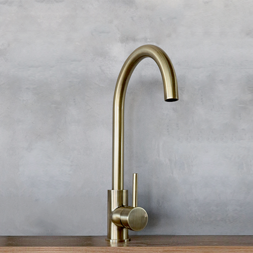 Modern Kitchen And Basin Mixers Available At Abi Bathrooms Gold Coast Rose Gold Brass Copper Brushed Nickle Kitchen Taps Brass Kitchen Tap Brass Kitchen