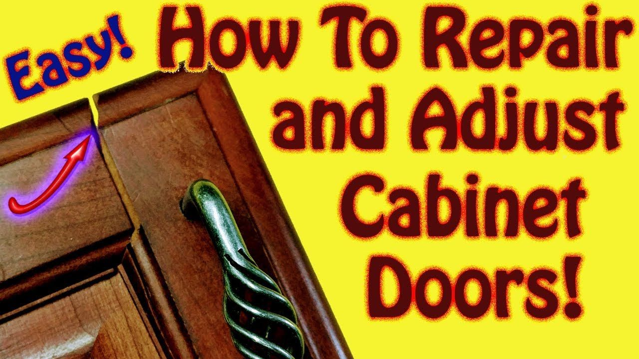 How To Adjust Kitchen Cabinet Door Hinges That Are Loose And How To Repa Kitchen Cabinets Door Hinges Cabinet Doors Door Hinges