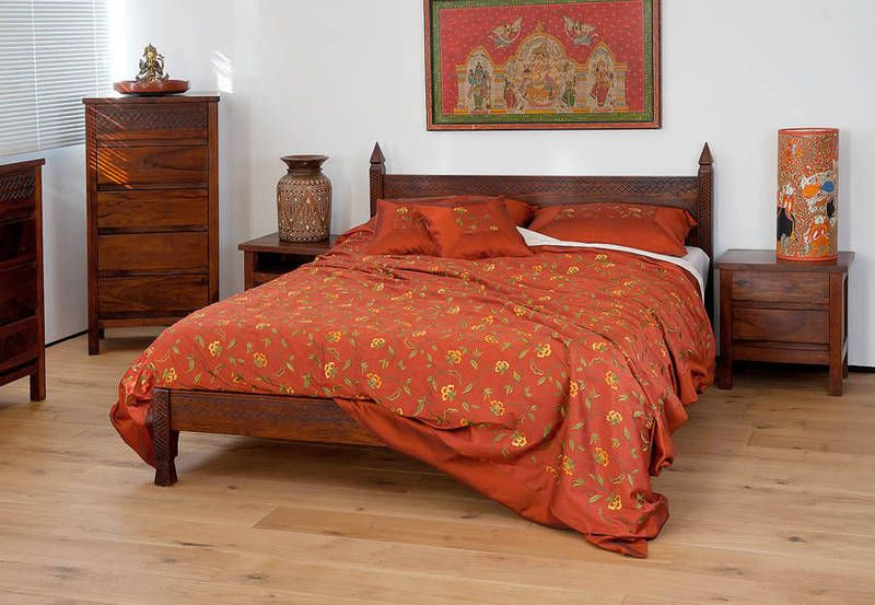 Kandahar Indian carved bed | Indian bedroom, Contemporary ...