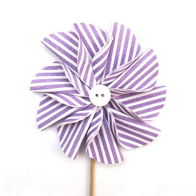 fabric pinwheel flower