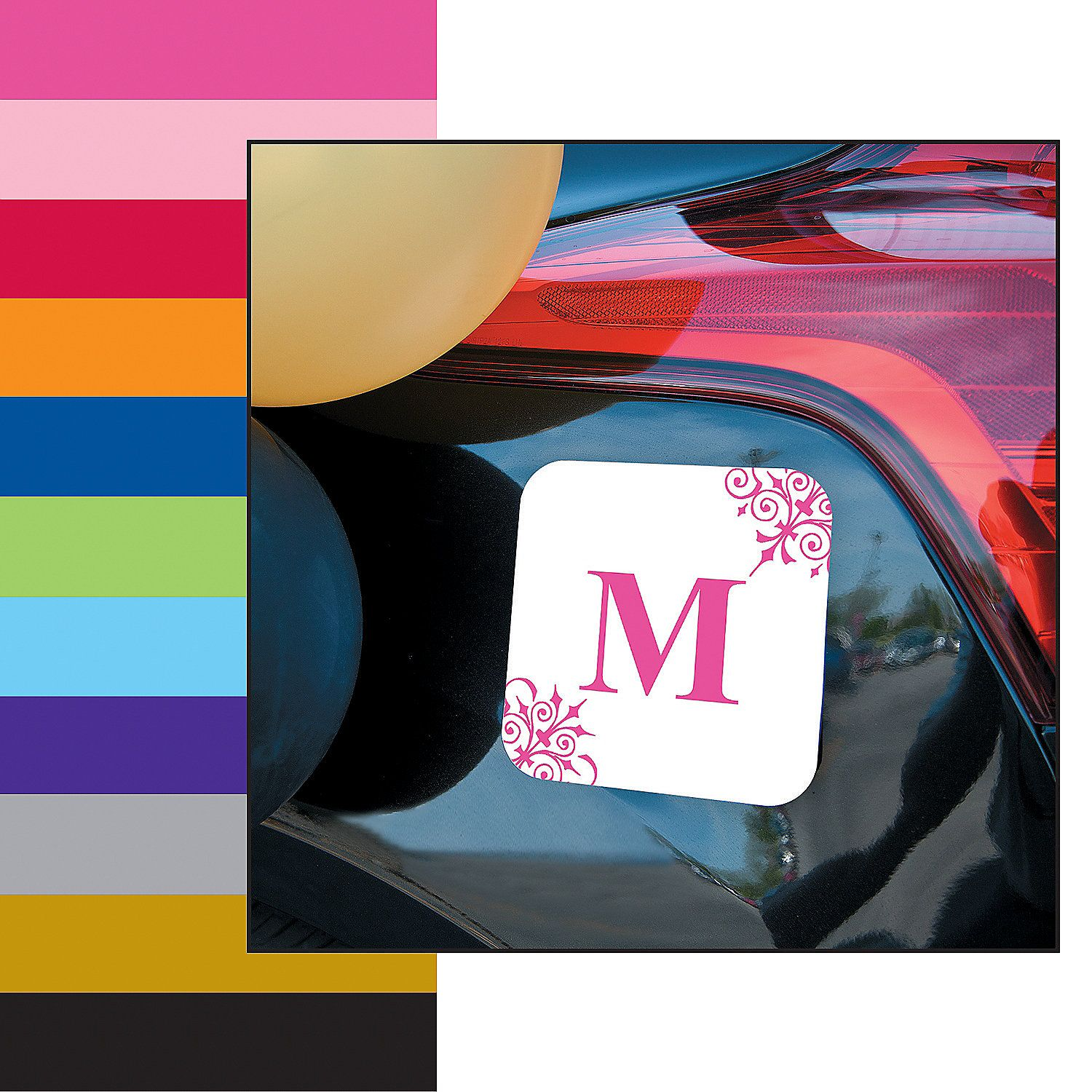 Personalized Orange Monogrammed Car Magnet For The Getaway Vehicle