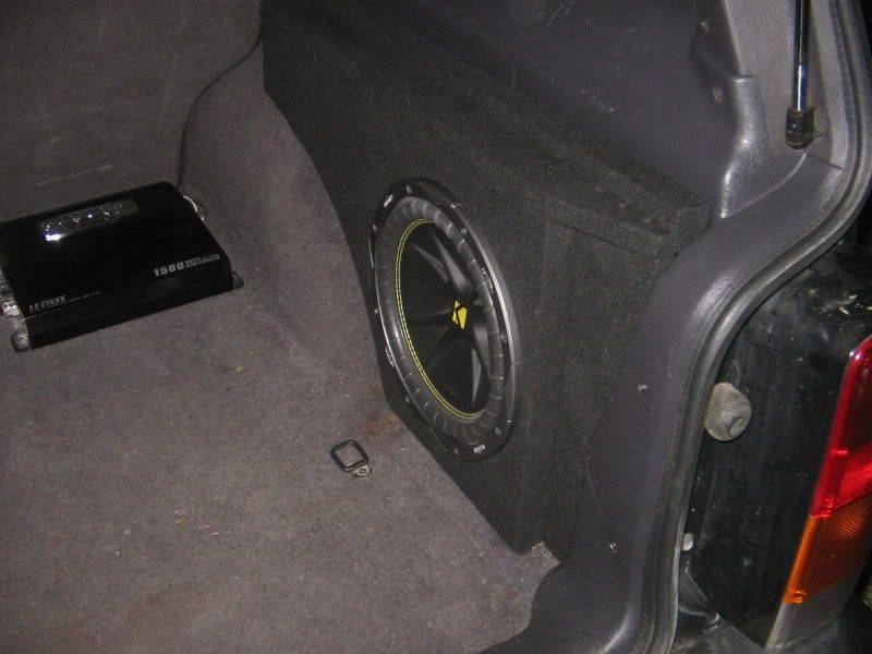 Checking Interest Custom Cubby Sub Box Jeep Cherokee Forum Jeep Wj Kicker Subwoofer Car Audio Subwoofers