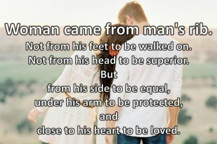 Adam and eve rib quote