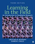 Sage Learning In The Field An Introduction To Qualitative Research Third Edition Gretchen B Rossman 9781412980487 Online Learning Introduction Learning
