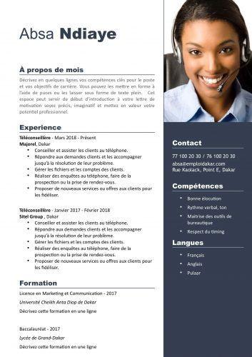 Vous êtes à la recherche d'un modèle de CV pour ...