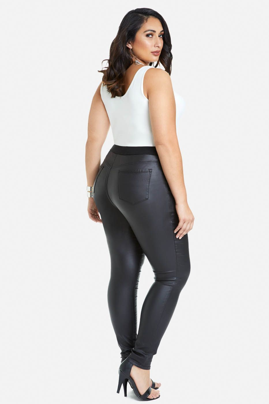 Plus Size Zak Faux Leather Pull-On Pants | Leggings - Skinny ...