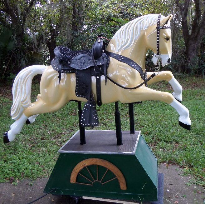 Trigger Coin Operated Horse Kiddie Ride Horses, Coin