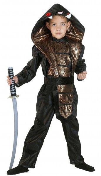 Kinderkostum Cobra Ninja Kostum Jungen Ninja Kampfer Teenager