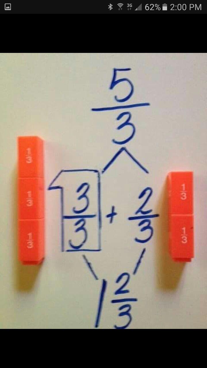 Improper fractions singapore math math education math