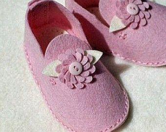 Handmade Baby Shoes Felt Baby ShoesFelt Baby BootiesBaby