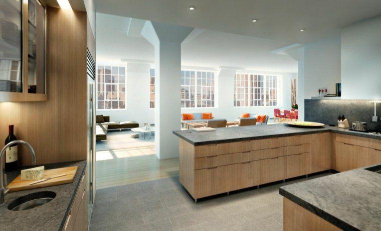 Cuisine Ouverte Sur Salon Une Solution Pour Tous Les Espaces - Idee deco salon salle a manger cuisine