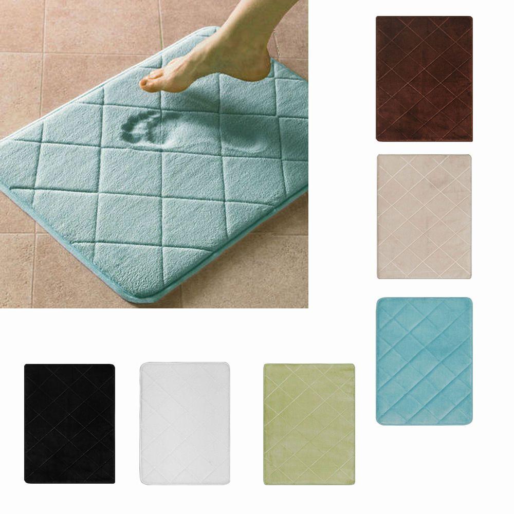 Modern Memory Foam Bath Rug 17 X24 Nonslip Contemporary Bathroom Microfiber Mat Powersellerusa 19 99 B Bath Rug Memory Foam Bath Rugs Memory Foam Bath Mats