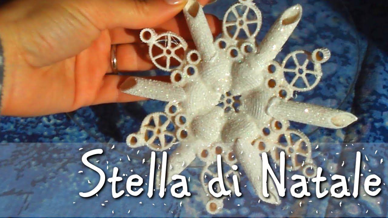 Stella Di Natale In Pasta Di Mais.Stella Di Natale Con La Pasta Pasta Crafts Crafts Christmas Crafts