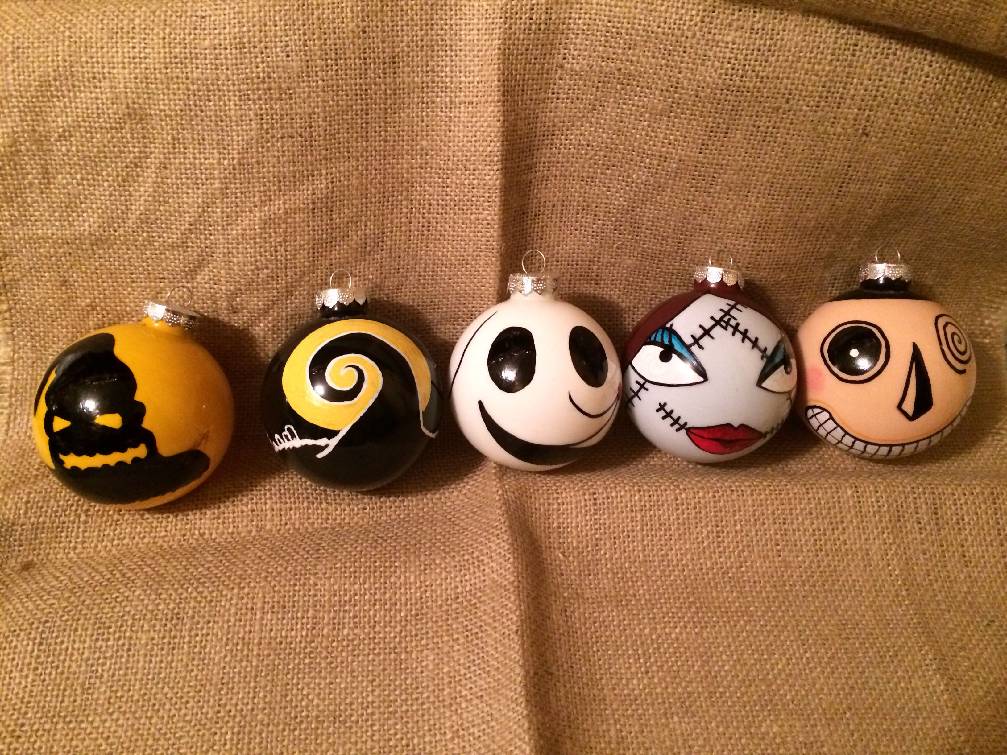 Hand Painted The Nightmare Before Christmas Glass Ball Ornaments Oogie