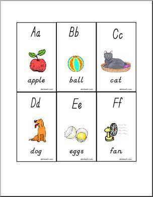 Flashcards Manuscript Letters Aa to Zz with pictures (DN
