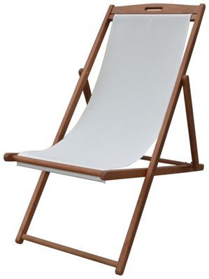 Buy Deck Chair - Cream at Argos.co.uk visit Argos.co  sc 1 st  Pinterest & Buy Deck Chair - Cream at Argos.co.uk visit Argos.co.uk to shop ...