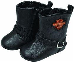 Harley Davidson Baby Biker Boots Leather Bound Online Harley Baby Harley Davidson Baby Harley Baby Clothes