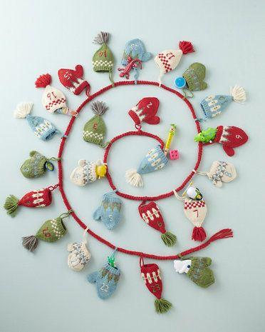 The BEST Advent Calendar ever....Hats and Mittens Advent Calendar ...