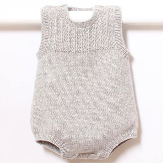 Knit Baby Romper Onesie Pattern Instructions In English