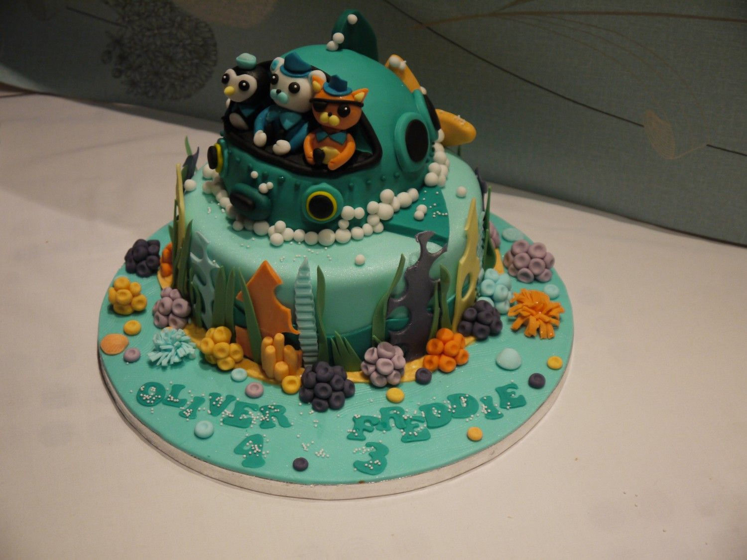 octonauts cake Ideas for the kids Pinterest Birthday cakes and