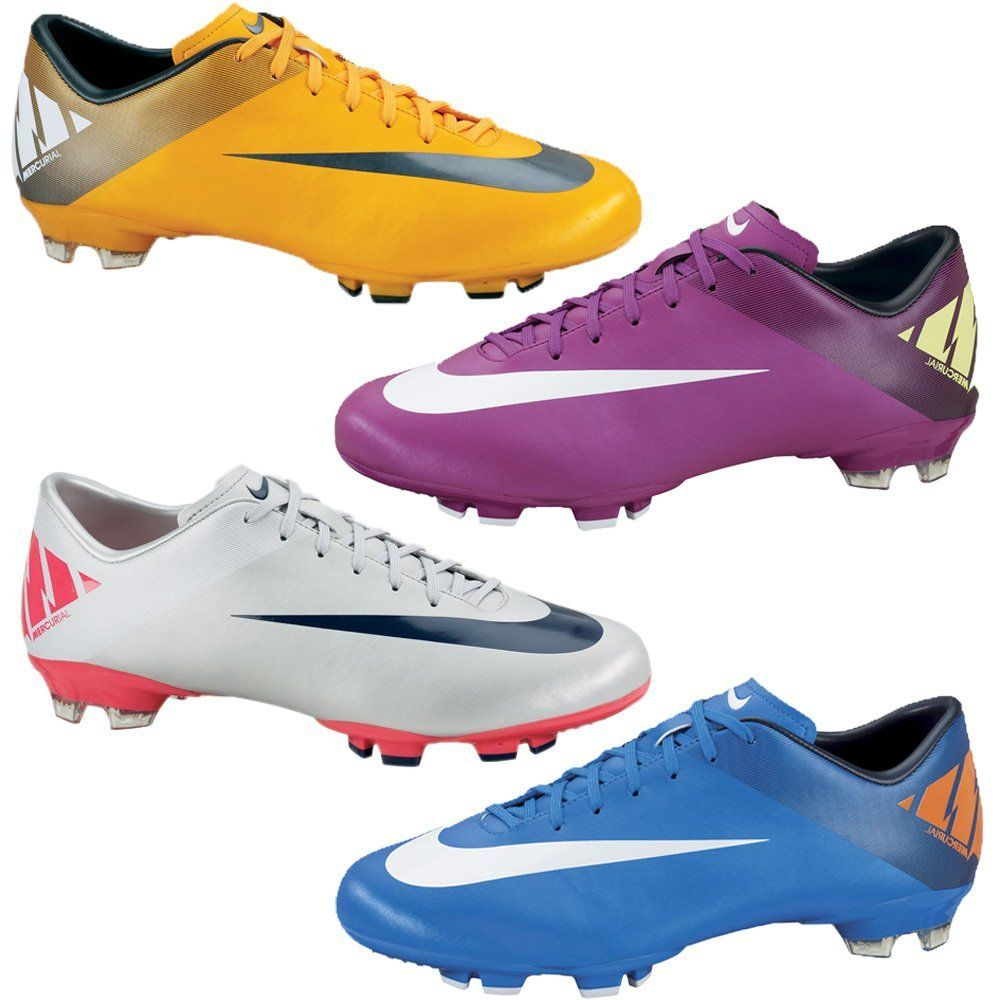 7bf19ad5a Nike Mercurial Victory II FG Mens Soccer Cleats Orange Silver