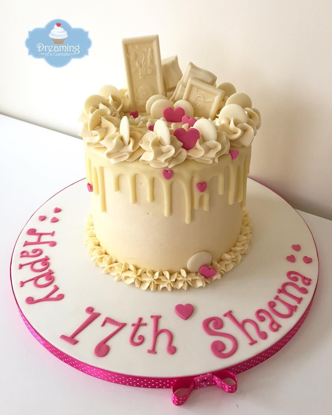 Brilliant Happy 17Th To Shauna White Chocolate Heaven Homebaked Funny Birthday Cards Online Fluifree Goldxyz
