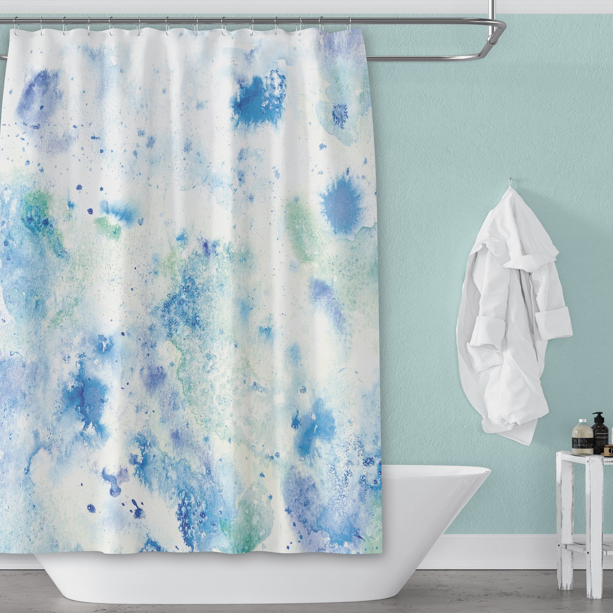 Pin On Watercolor Shower Curtains