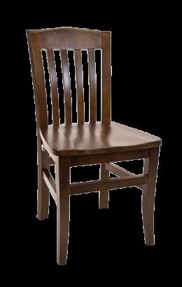 Beechwood Vertical Slat Chair W Walnut Back And Wood Seat Wood