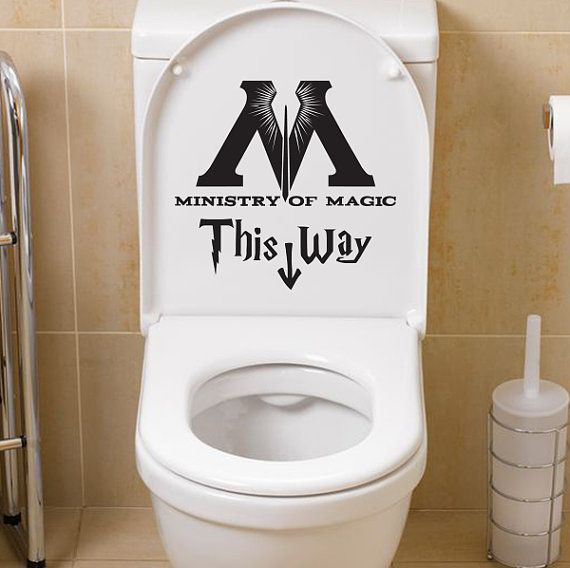 This Harry Potter toilet decal adds a whimsical touch to your bathroom.