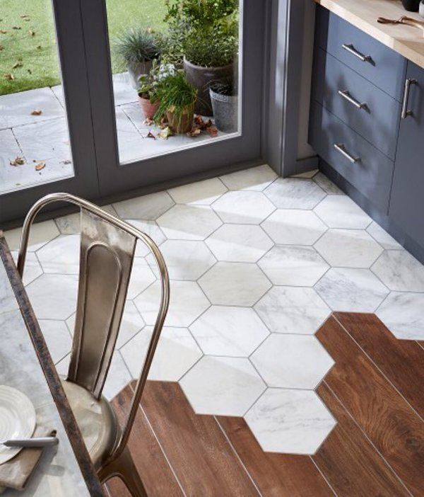 Image Result For Marble Hexagon Tile Kitchen Floor