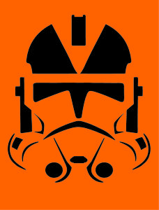 Clone Trooper Pumpkin Carving Stencil Silhouette Projects