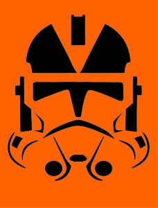 Clone Trooper Pumpkin Carving Stencil