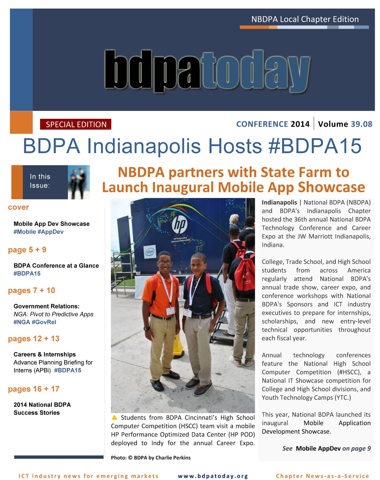Your 2014 Conference Edition of bdpatoday features this