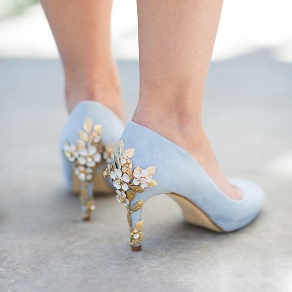 5d1bad0a603 Amy Mid Blue Blossom | Wedding!! | Blue wedding shoes, Shoes ...