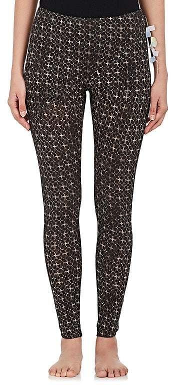 Womens Bambou Lotus Impression Leggings En Coton Mélange Weargrace RXsq44w