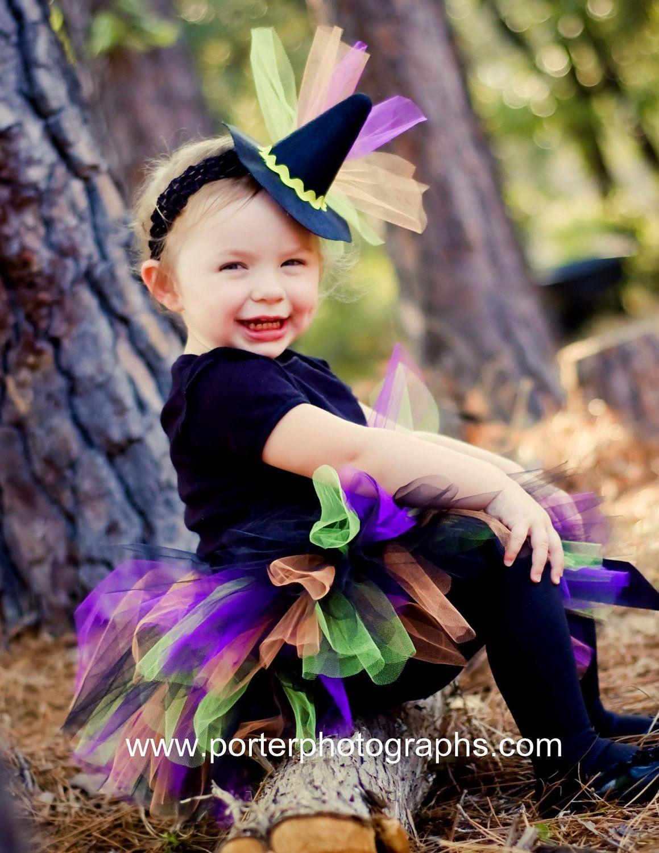 Witch Costume Tutu Baby Girls Infant Halloween Set With Mini Hat Choose Sizes 0